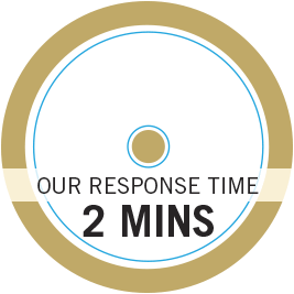 Our response time is two minutes