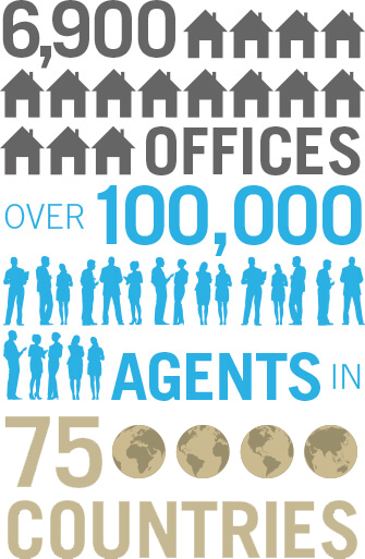 6900 offices and over 100,000 agents in 75 countries